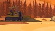S1 E15 Bummer drives a bulldozer into Chillaxland