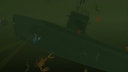 S1 E6 El Duderino is large enough to push a submarine around too
