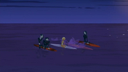 S2 E8 Reef's garlic grenade causes Emma to fall off her board