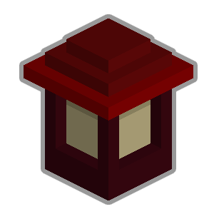 File:Wooden wall lantern red.png