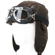 Pilot's hat and goggles