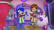 Blueberry and Huckleberry on the chairs