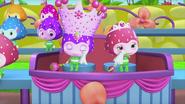Queen of Berryvania and Princess Berrykin splattered in Berrykin slime
