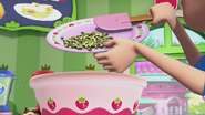 Blueberry is adding some zucchini to her batter