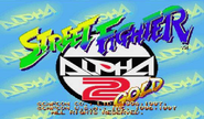 Street Fighter Alpha 2 Gold Title