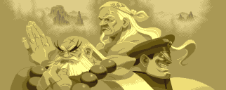 Archivo:Gouken, Goutetsu, and Bison in Street Fighter Alpha-1-.png
