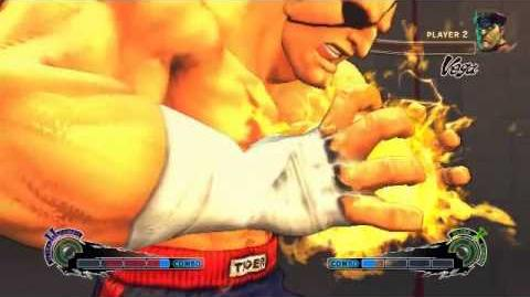 Super Street Fighter 4 - Sagat Ultra 2 Tiger Cannon