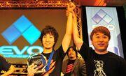 Yoshinoro Ono and Daigo Umehara EVO 2010.jpg