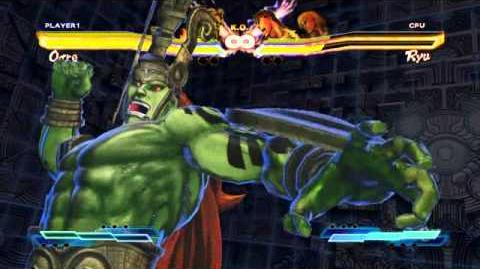 Ogre performing his Super Art and Cross Art in Street Fighter X Tekken