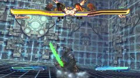 Yoshimitsu's Super Art and Cross Assault in Street Fighter X Tekken