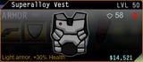 SFH2 Superalloy Vest