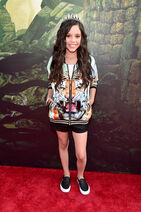 JENNA ORTEGA at the red carpet premiere of Disney's The Jungle Book (GB1)