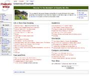 University-Wiki template example