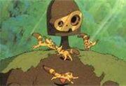 Ancient laputa robot with cameo fox squirrels