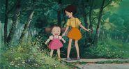 Många japaner älskar totoro och lilla flicka mei