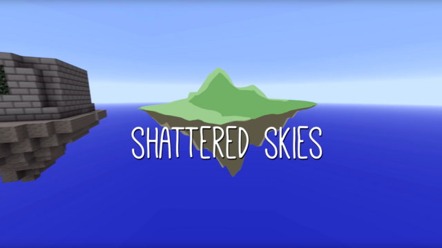 File:Stumpt Minecraft Shattered Skies intro logo.png