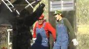 Stupid Mario Brothers Donkey Kong About to Kill Mario and Luigi
