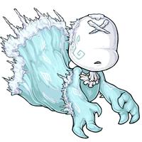 Ghostly glacier