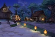 Map omenislandvillage night