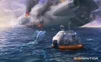 Concept-art-crashed-ship-by-cory-strader-the-art-of-subnautica