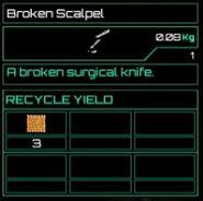 Broken Scalpel
