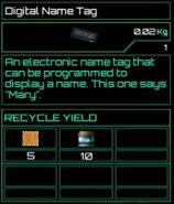 Digital Name Tag