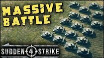 MASSIVE TANK BATTLE 1vs1 Multiplayer Gameplay Sudden Strike 4-0