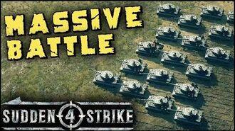 MASSIVE TANK BATTLE 1vs1 Multiplayer Gameplay Sudden Strike 4-0