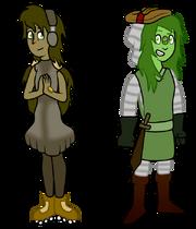 Kornerupine and Prehnite