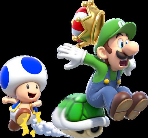 File:Luigi Toad Crown Artwork - Super Mario 3D World.png