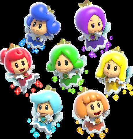 File:Fairy Group Artwork - Super Mario 3D World.png
