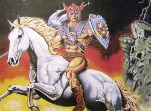 File:Magoon riding a horse - Galaxy Fighters box art.png