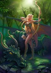 Green dragon by elfessa-d125bm4