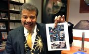 Neil Tyson with comic