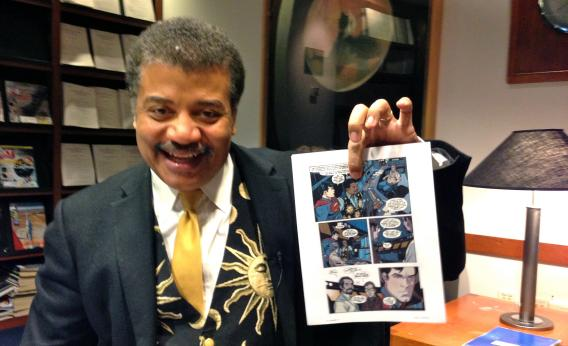 File:Neil Tyson with comic.jpg
