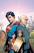 Superman Clark Kent and Lex Luthor