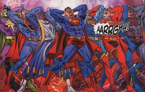 Image result for Pre-Crisis.  Post-Crisis.  Elseworlds.  Alternate futures.  New 52 worlds.  Infinite Earths.  Video games.  Cartoons.