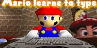 SM64: Mario learns to type