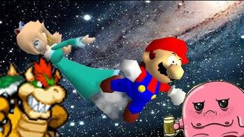SM64 bloopers Shoot to the Observatory in the sky