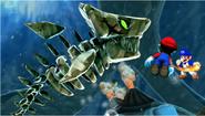 Mario and SMG4 vs Kingfin the Momma Fish