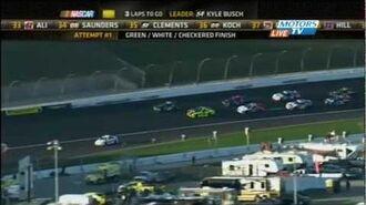Green-White-Checkered Finish - 2012 NASCAR Nationwide Kansas Lottery 300