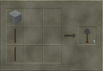 Stone Shovel craft