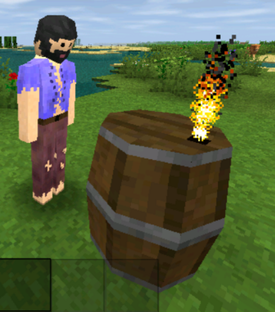Player with Keg