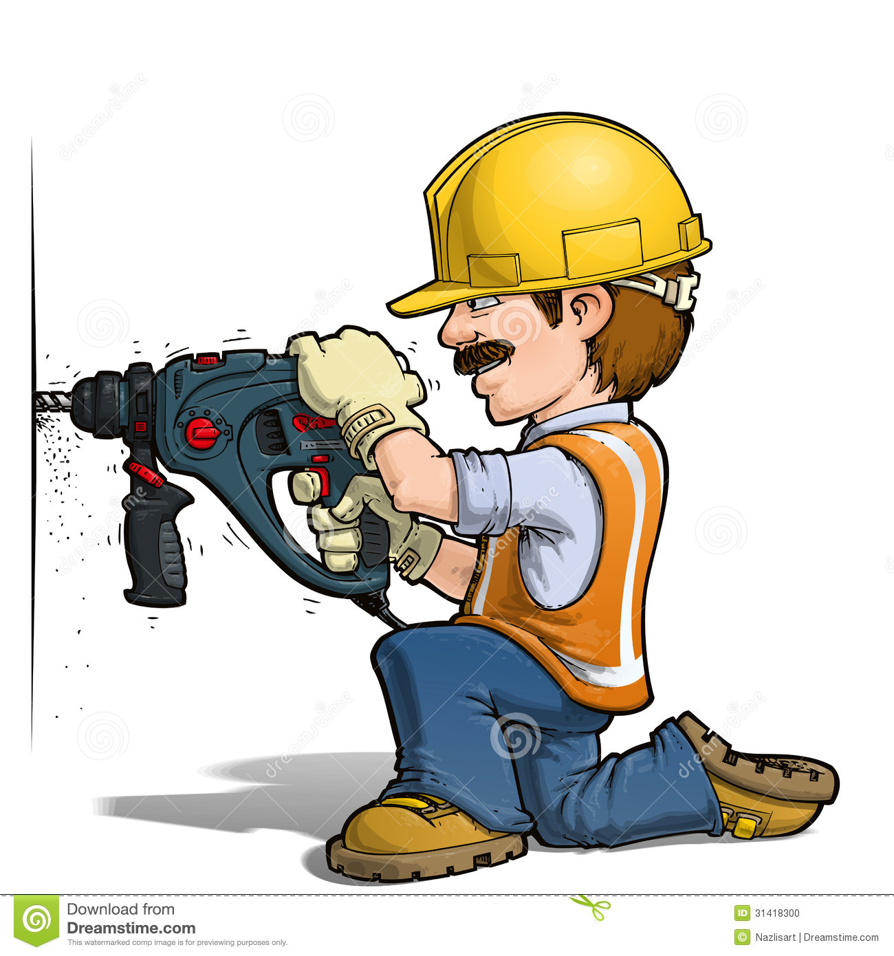 Image - Construction-workers-nailling-cartoon-illustration ...