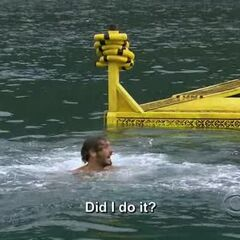 Reynold asking if he won Immunity.