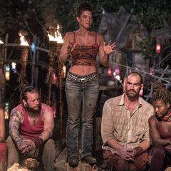 Jennifer pleads to her allies to keep her over Alecia at the second Tribal Council.