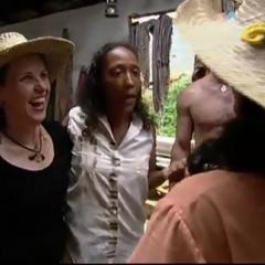 Sandra 'selling' <a href=