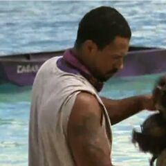 Bobby competes for immunity in <i>Buried At Sea</i>.