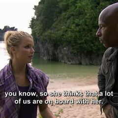 Andrea telling Phillip about her thoughts on Francesca.
