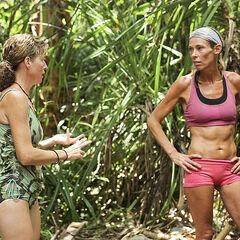 Kass and Trish talking.